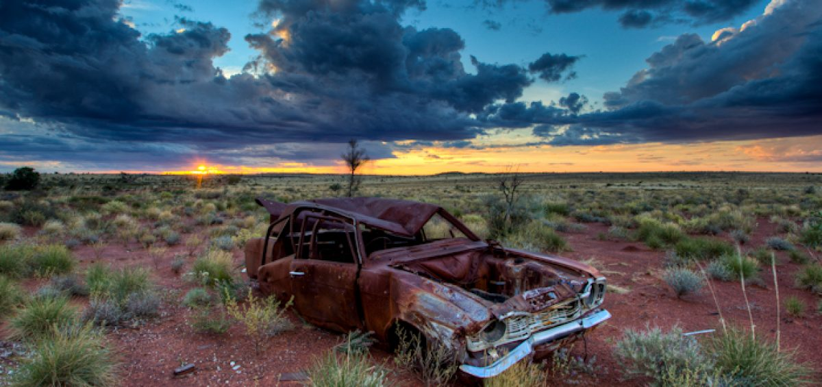 Car in the Western Desert Australia jlbphotos.com